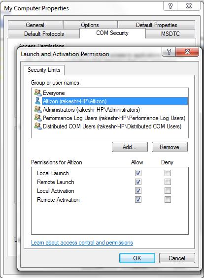 Dcom Access Control List